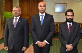 Ismail Sofwan (M), formerly a member of Maldives Broadcasting Commission. PHOTO/PRESIDENT'S OFFICE