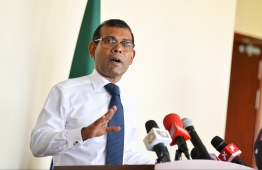 Speaker of Parliament Mohamed Nasheed. PHOTO: MIHAARU