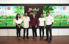 Producers of 'Kail and Lulu' children's cartoon program. PHOTO: DHIRAAGU