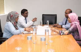 Meeting between officials of Maldives Monetary Authority (MMA) and the Ministry of Housing and Urban Development. PHOTO: MINISTRY OF HOUSING AND URBAN DEVELOPMENT