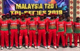 The National Cricket Team of Maldives. PHOTO: MIHAARU