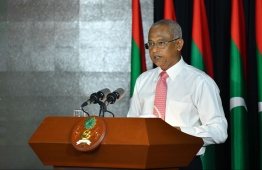President Ibrahim Mohamed Solih. PHOTO: HUSSAIN WAHEED