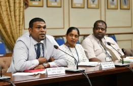 State Owned Enterprises Committee Parliament. Island Aviation. PHOTO: HUSSAIN WAHEED/MIHAARU.