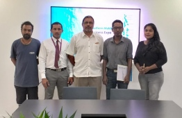 Organisers of Southern Maldivian Business Expo signing with partners of the event. PHOTO: ORGANISERS