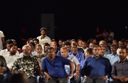 Participants at the 'Jazeera Holhuashi' held at GDh.Thinadhoo. PHOTO/PRESIDENT'S OFFICE