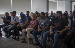 AngelHack participants attending the inauguration ceremony of AngelHack. PHOTO: DHIRAAGU