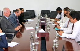 EU Counter-Terrorism Coordinator calls on State Minister Ahmed Khaleel. PHOTO: MINISTRY OF FOREIGN AFFAIRS.