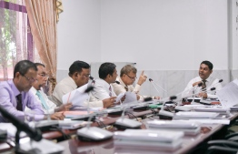 Monday's session of Parliamentary Committee on Public Finance in progress. PHOTO: NISHAN ALI/ MIHAARU