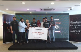 The Maldivian leg of AngelHack 2019 concluded on Tuesday with Team Staylight winning first place. PHOTO: MIHAARU