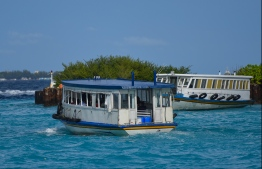 A ferry operated by Maldives Transport and Contracting Company (MTCC). PHOTO: HUSSAIN WAHEED/ MIHAARU