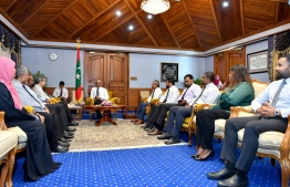 President Ibrahim Mohamed Solih meets Bar Council members. PHOTO: PRESIDENT'S OFFICE