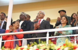 President Ibrahim Mohamed Solih and First Lady Fazna Ahmed. PHOTO: PRESIDENT'S OFFICE