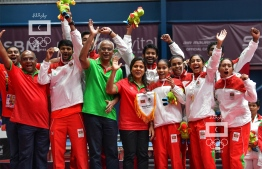 IOIG 2019: Maldives earns Table Tennis gold. PHOTO: NISHAN ALI/MIHAARU.
