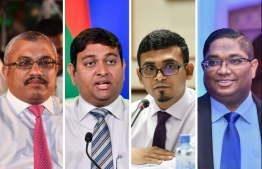 Former VP Abdulla Jihad, former Minister of Fisheries, Marine Resources and Agriculture Mohamed Shainee, former Attorney General Mohamed Anil and former Minister of Finance Ahmed Munawar.