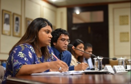 PG Bisham answering questions posed by members of Parliament's Judiciary Committee. PHOTO: HUSSAIN WAHEED/ MIHAARU