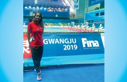 Aishath Sausan returned to her professional swimming career following a 5-year hiatus in 2018. She has since renewed multiple national records. PHOTO: MALDIVES SWIMMING ASSOCIATION