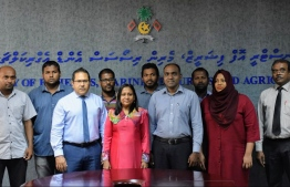 Minister of Fisheries, Marine Science and Agriculture Zaha Waheed meets with selected participants of the training programme. PHOTO: MINISTRY OF FISHERIES, MARINE SCIENCE AND AGRICULTURE