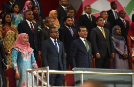 Chief Justice Dr Ahmed Abdulla Didi attends the 54th Independence Day celebrations, on July 26, 2019. PHOTO: HUSSAIN WAHEED / MIHAARU