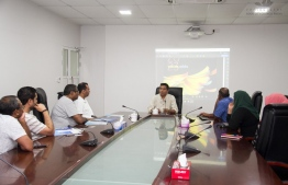 Addu City Council's meeting with representatives from Al-Jeri Holding Group. PHOTO: ADDU CITY COUNCIL