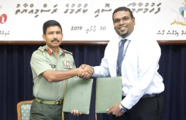 From the signing ceremony between MNDF and IAS to train pilots and engineers. PHOTO: MNDF