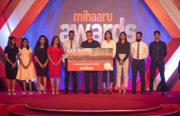 Ooredoo awards special packages in recognition of the medalists at the recently held Indian Ocean Island Games 2019. PHOTO: MIHAARU