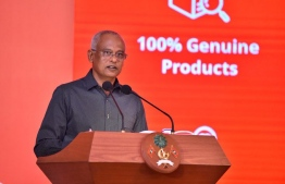 President Ibrahim Mohamed Solih speaking at the launching ceremony of e-Commerce Marketplace Platform 'Moolee'. PHOTO: PRESIDENT'S OFFICE