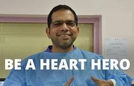Dr Ali Shafeeq, the only local cardiologist in Maldives, is nominated as a Heart Hero 2019. PHOTO/WORLD HEART FEDERATION