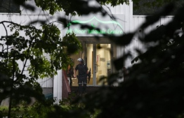 Police operating around Al-Noor Islamic Centre. Police say a gunman opened fire on the Al-Noor Islamic Centre, in the outskirts of the capital Oslo. PHOTO: BLOOMBERG