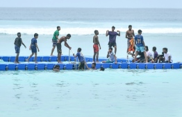 Hulhumale' Swimming Track. The two canoers who went missing were carried to this area by ocean currents. PHOTO: MIHAARU
