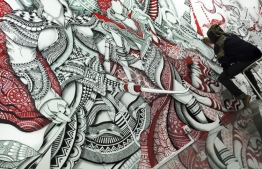 A mural created by Maahee. PHOTO: DHO