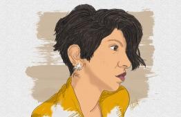 A self-portrait digitally illustrated by Shimanie Shareef.  ARTWORK: SHIMANIE / MANIE