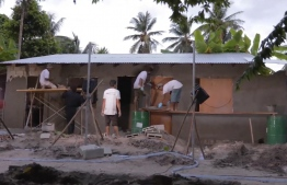 ADK's team is seen during the construction of the house. PHOTO: ADK