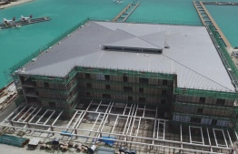 The new seaplane terminal being developed at VIA; MACL stated that 73 percent of the development is complete. PHOTO: MACL
