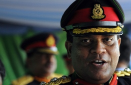 In this file photo taken on May 28, 2009 Sri Lankan Army 58 Division Chief Brigadier Shavendra Silva attends a military ceremony. PHOTO: AFP
