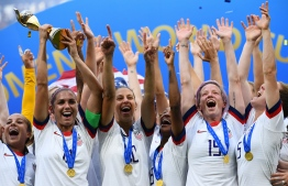 """United States' women's football players reached an impasse August 14, 2019, in mediation with the US Soccer Federation in their dispute over equal pay with the American men's squad. Molly Levinson, a spokesperson for the US women's players, said the group will """"eagerly look forward to a jury trial."""". PHOTO: FRANCK FIFE / AFP"""