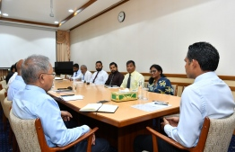 Male' City Council meets Vice President Faisal Naseem to discuss development issues in Male' City. PHOTO/PRESIDENT'S OFFICE