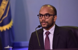 Minister of Finance Ibrahim Ameer. PHOTO: NISHAN ALI / MIHAARU