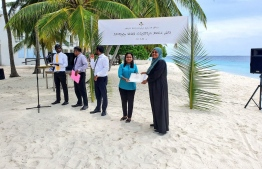 All 20 participants of the hydroponics training program were awarded a certificate by Minister Zaha. PHOTO: MINISTRY OF FISHERIES, MARINE RESOURCES AND AGRICULTURE