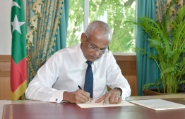 President Solih ratified amendments to National Social Health Insurance Scheme Act. Under the changes brought in by the administration, President Solih on Sunday renamed 'Marine Research Centre' to 'Maldives Marine Research Institute' and updated its mandate. PHOTO: PRESIDENT'S OFFICE