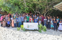 Inauguration of the community park built in Nellaidhoo under Bank of Maldives (BML)'s 'Aharenge Bank Community Fund'. PHOTO: BML