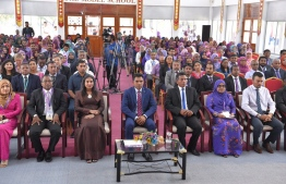 The ongoing International Teachers Conference in Addu. PHOTO: MIHAARU