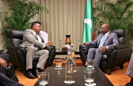 Minister of Foreign Affairs Abdulla Shahid meets with Minister of Agriculture and Fisheries of Timor-Leste Joaquim Jose Gusmao dos Reis Martines, PHOTO: FOREIGN MINISTRY