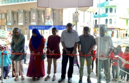 The inauguration ceremonty of Maldivian's ticket office. PHOTO: MIHAARU