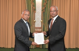 President Ibrahim Mohamed Solih appoints Ali Hashim as Governor of Maldives Monetary Authority (MMA). PHOTO: PRESIDENT'S OFFICE