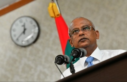 President Ibrahim Mohamed Solih speaks at press conference regarding Ahmed Rilwan's case on September 8, 2019. PHOTO: HUSSAIN WAHEED / MIHAARU