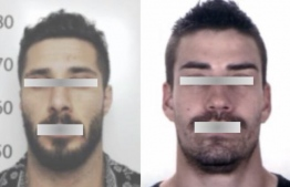 A side by side image comparison between the impersonator and the passport photo of the lookalike.