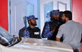 Maldives Police Service investigating into an address of interest under their special operation.