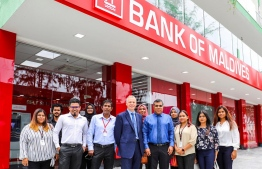 Bank of Maldives (BML) opens a USD ATM at reclaimed suburb Hulhumale'. PHOTO: BML