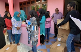 Cyryx College donated computers to 68 households in Hulhudhoo, Addu Atoll. PHOTO: CYRYX COLLEGE