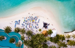 Aerial view of Jimmy Barnes' concert at Holiday Inn Kandooma. PHOTO/KANDOOMA
